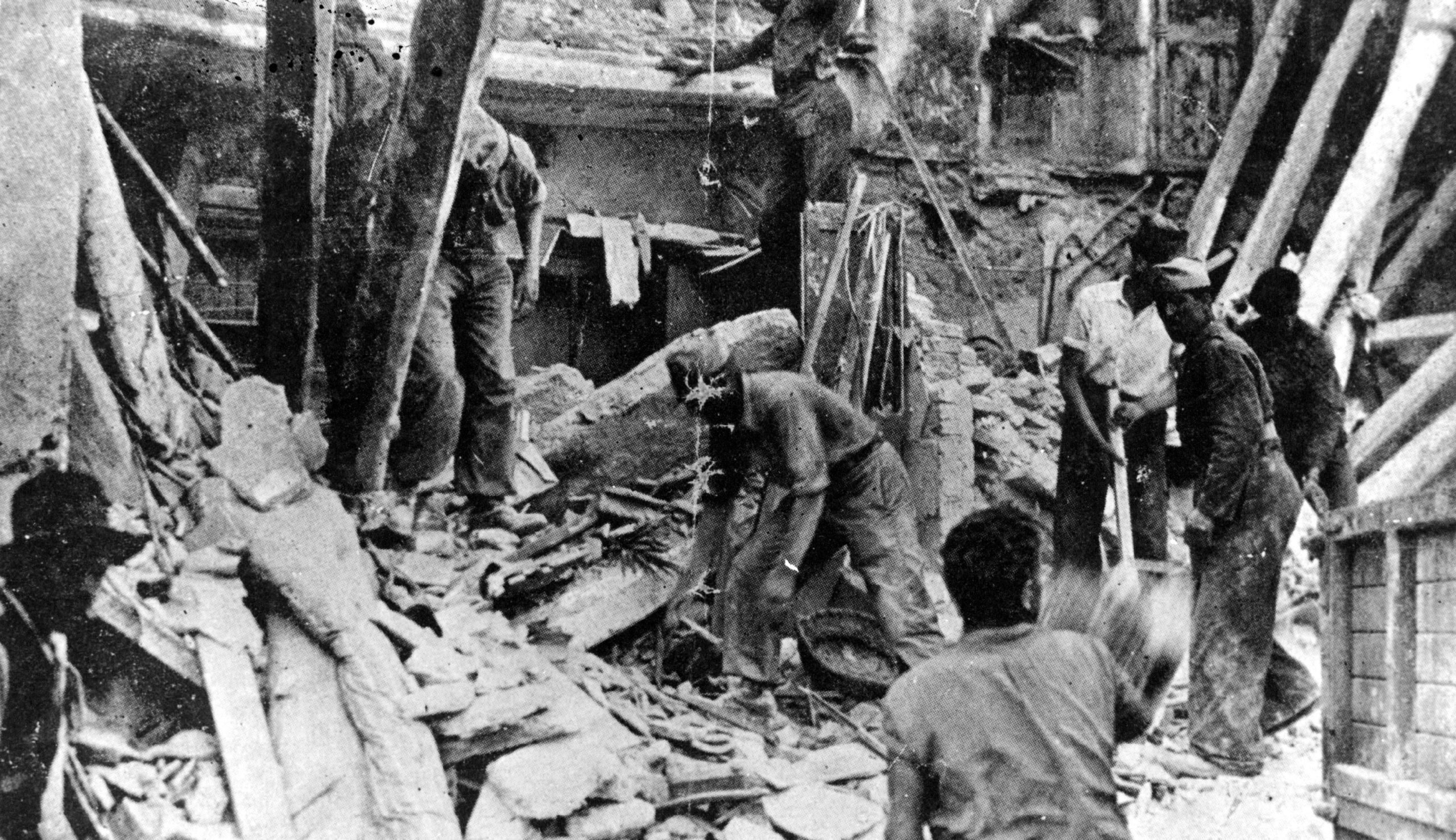 Desenrunament de les restes de Can Torrejón