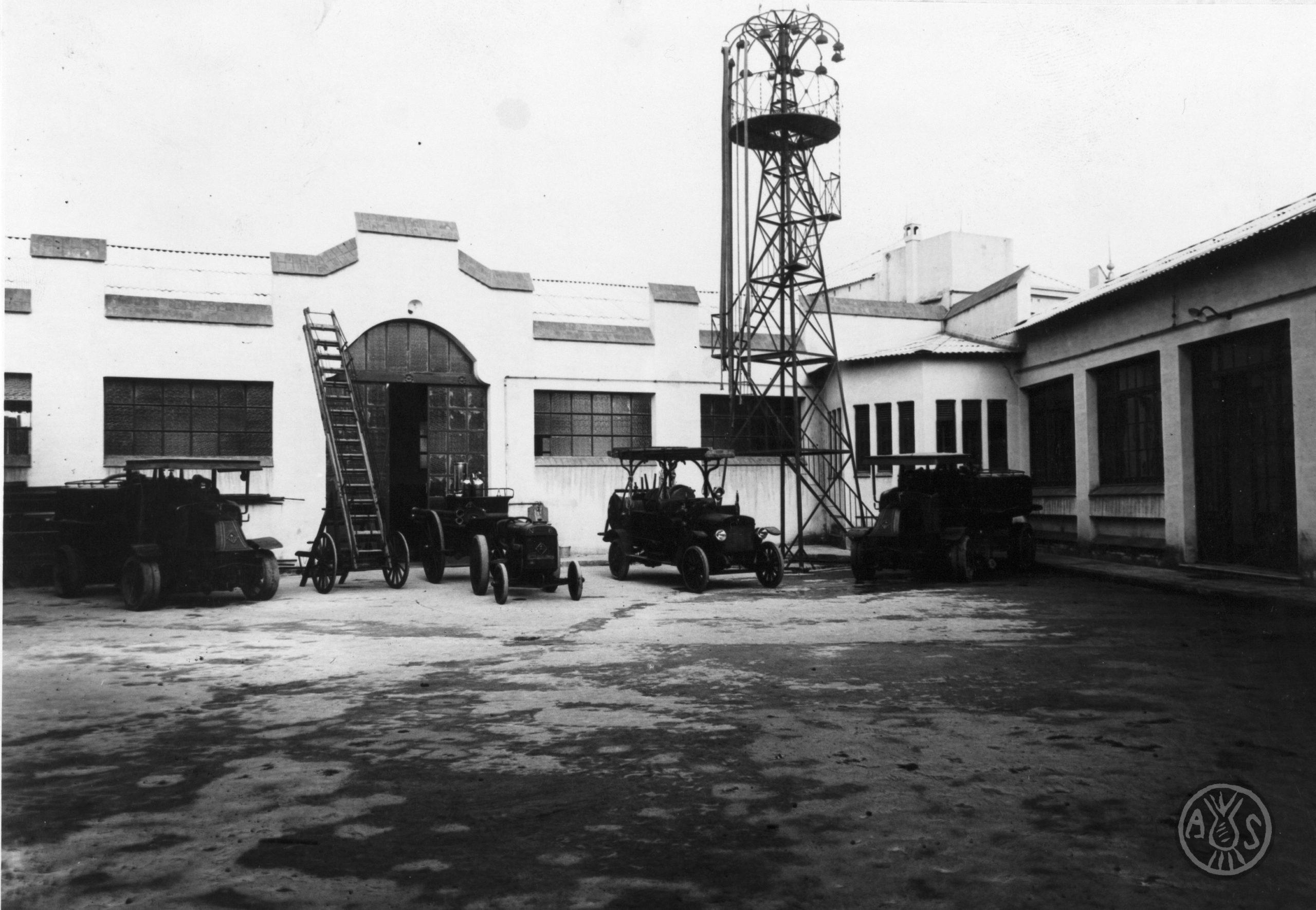 Vehicles dels Bombers de Sabadell el 1933