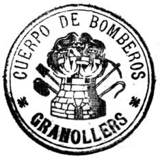Segell dels Bombers de Granollers dels anys '30