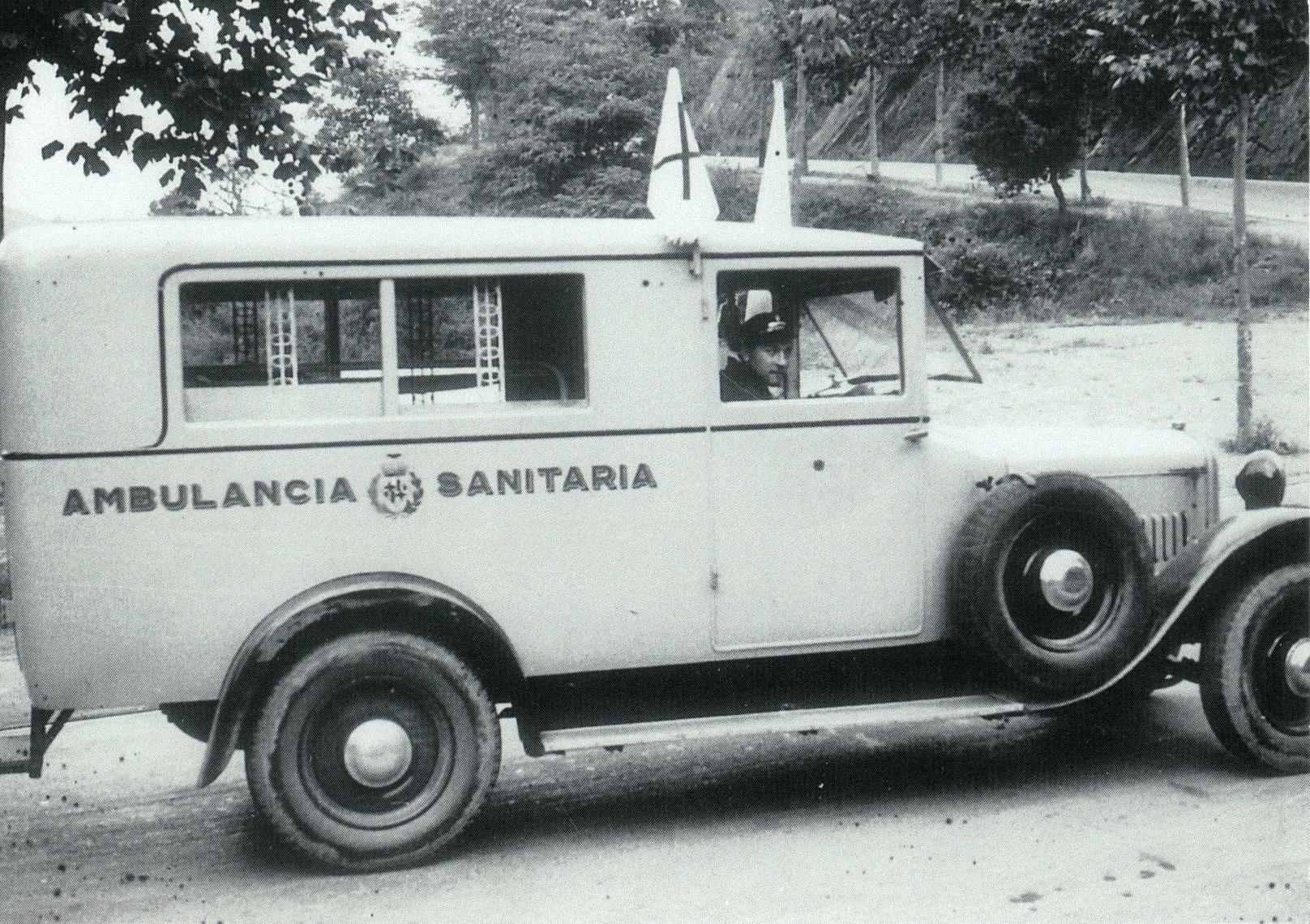 Ambulància utilitzada per bombers de Barcelona