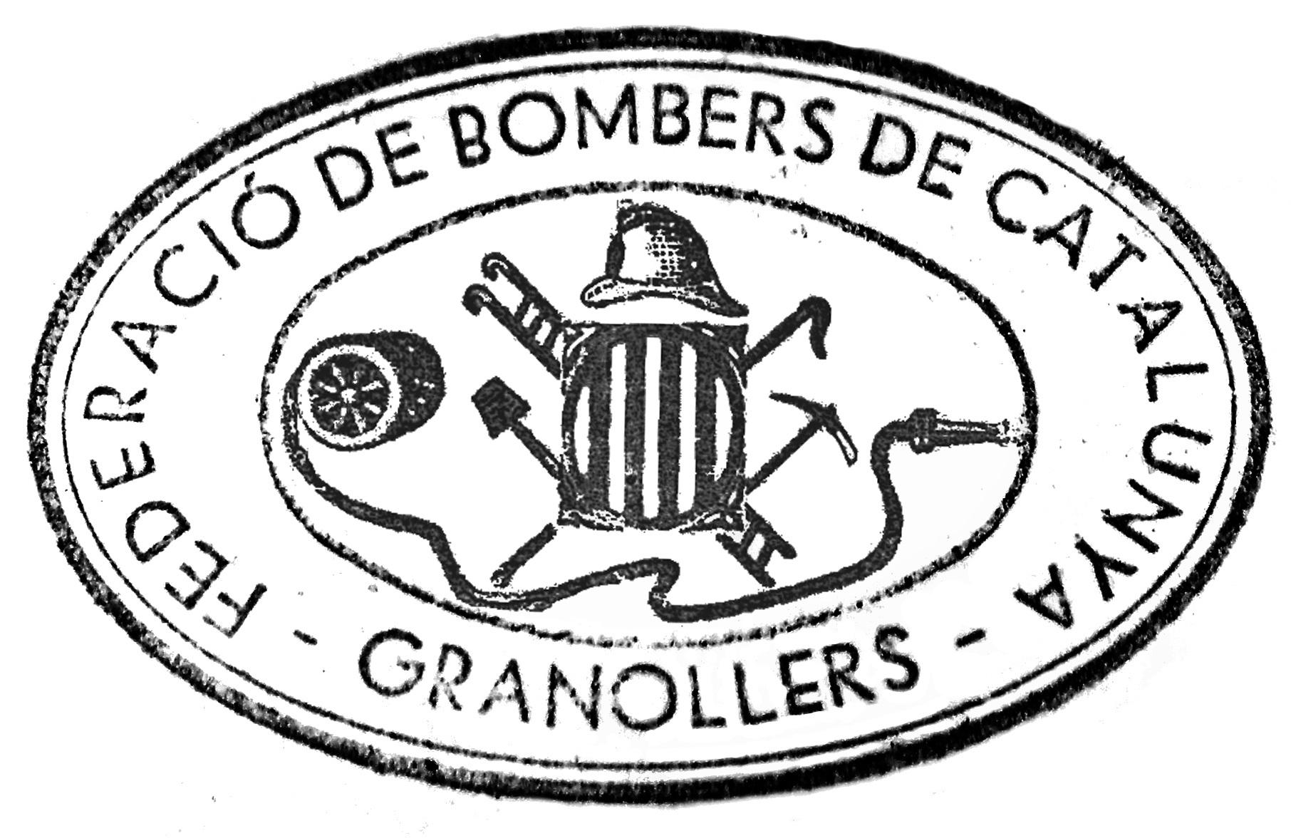 Segell de la secció dels Bombers de Granollers de la Federació de Bombers de Catalunya