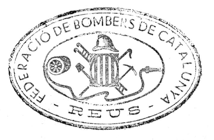 Segell de la secció dels Bombers de Reus de la Federació de Bombers de Catalunya