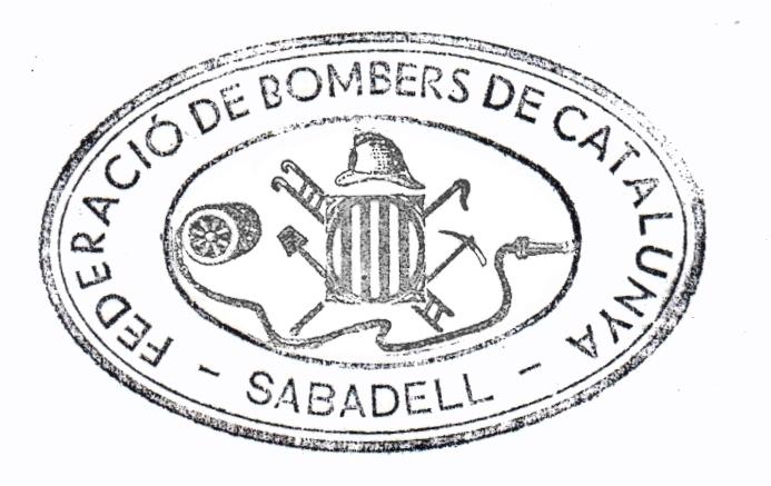 Segell de la secció de Sabadell de la Federació de Bombers de Catalunya
